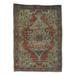Antique Persian Serapi Even Wear Hand-Knotted Oriental