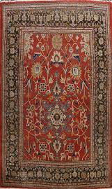 1920s Antique Sultanabad Vegetable Dye Persian Rug