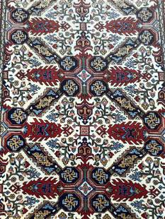 Handmade antique Afghan Baluch prayer rug 2.9' x 4.8'
