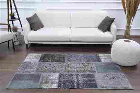 4x6 PATCHWORK Turkish Vintage Rug, Oushak Handmade Wool