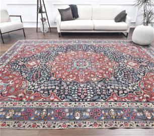 9x11 PERSIAN HERIZ Vintage Carpet, Oushak Handmade Wool
