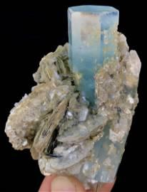 767 Carats ~  Blue Gemmy Aquamarine Crystal W/ Matrix