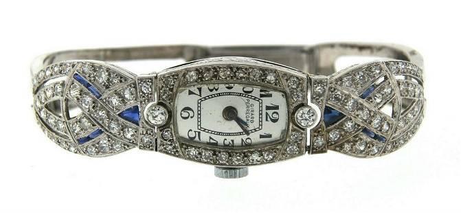 WOW Girard Perregaux Platinum, 14k White Gold & Diamond