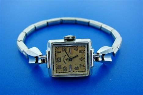 TIMELESS ELgin 14k White Gold Lady's Watch