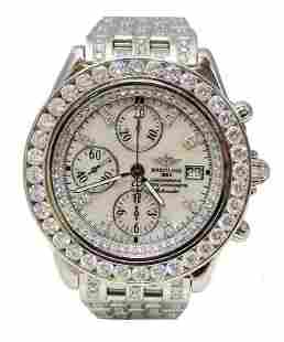 STAINLESS STEEL BREITLING CROSSWIND CHRONOGRAPH 8 3/4ct
