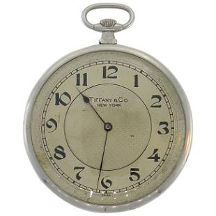 Tiffany & Co. Platinum Pocket Watch Pendant