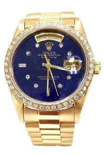 36MM ROLEX PRESIDENT DAY DATE 18K GOLD WATCH DOUBLE