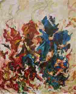 """Roya Mansourkhani, Coming Out, Acrylic, 72"""" x 60"""""""