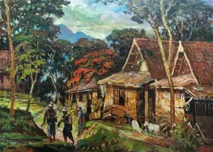 Village in Indonesia - B. S. Nurdin (1915 - 1987)