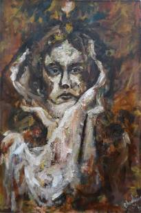 No One 1, oil painting, 2' x 3'