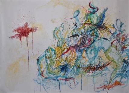 Mansourkhani Roya, Untitled, 2013 Water-mix media,
