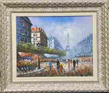 "W. Bosart, Paris, Oil, 24"" X 28"""