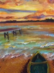 "Florida, Original Oil Painting, 14"" x 11""."