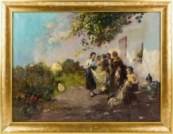 AGOSTON ACS | Village Idyll (Hungarian Painting)