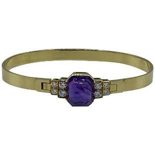 Vintage CARTIER Yellow Gold, Amethyst and Diamond