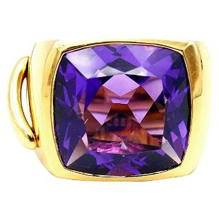 Chaumet Lien Yellow Gold Amethyst Ring