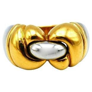 Bulgari Parentesi Yellow Gold Hematite Ring