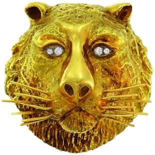 Wander Yellow Gold Leo Pendant Pin Brooch Zodiac Lion,