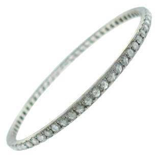 Tiffany & Co. Diamond White Gold Bangle Bracelet