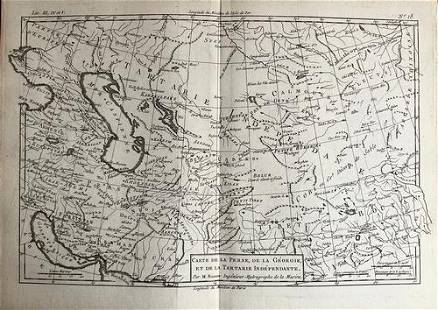 Persia, Central Asia to Tibet by Bonne/ Raynal 1780