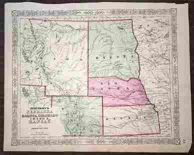 Johnson's Nebraska Dakota, Colorado Idaho & Kansas