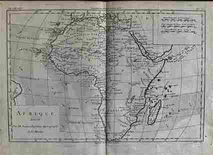 Africa By Bonne/ Raynal 1780