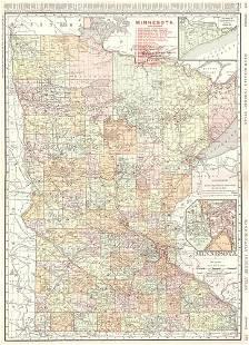 Rand-McNally Indexed Atlas. Minnesota