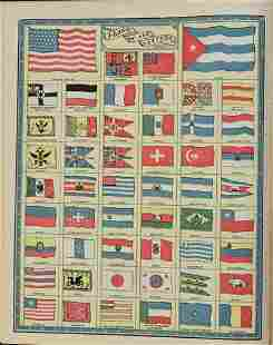1902 Cram Chart of National Flags -- Flags of All