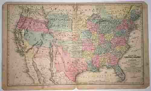 Map of United States and Canada.