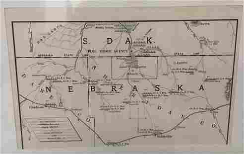 Map Showing Positions of Nebraska State Troops in