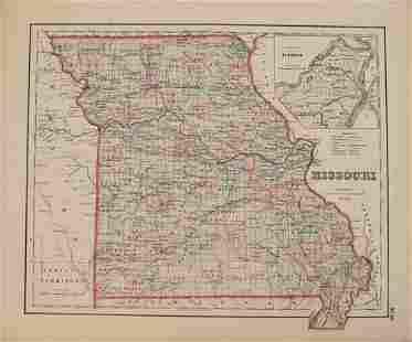 1855 Colton Map of Missouri -- Missouri