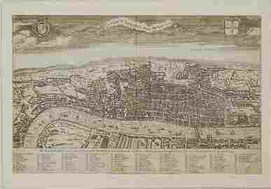 1738 Maitland Map of London -- A View of London about