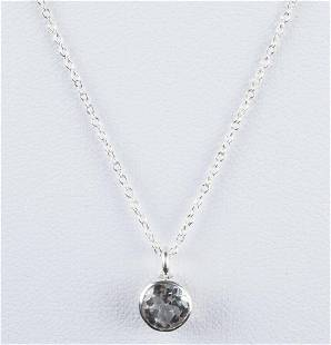 Sterling Silver Faceted Aquamarine Astrology Pendant