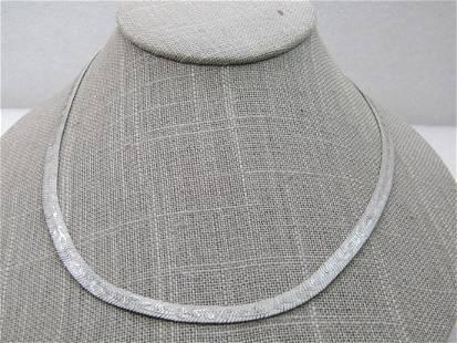 Vintage Lady Remington Floral Herringbone Necklace,