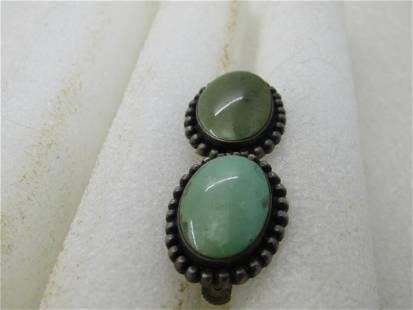 """Vintage Sterling Green Enameled Frog Necklace, 18"""""""