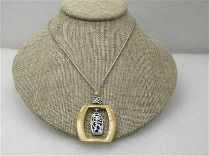 "Vintage Brighton Scrolled & Hammered Necklace, 17"","