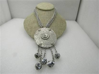 Vintage La Royale Statement Necklace, Multi-Strand,