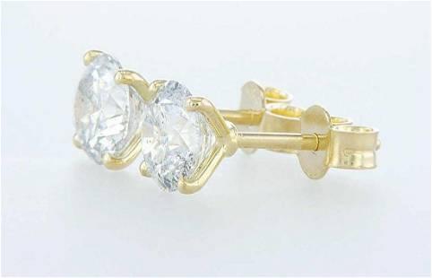 14 kt. White gold - Earrings - 2.11 ct Diamond -