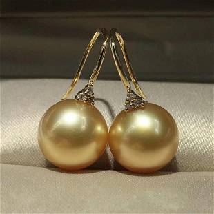 18 kt. White Gold - 10x11mm Round The South Sea Pearls