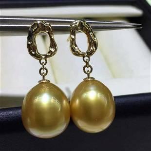 18 kt. White Gold - 11x12mm Round Philippines Pearls