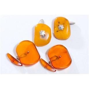 18 g. 2 pairs of beautiful Natural Baltic Amber