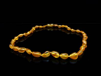 Magnificent Amber Necklace made from Hand Carved Amber