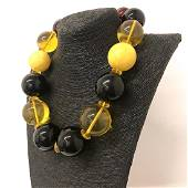 Alluring Vintage Amber Necklace made from Round Amber