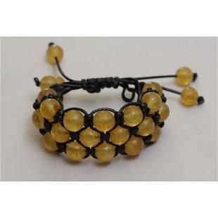 34 g. Vintage 100% natural Baltic amber bracelet yellow