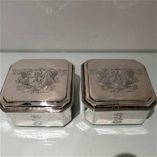 17th Century Antique Charles II Sterling Silver Pair