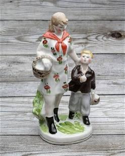 Figure sculpture handmade statue porcelain vintage USSR
