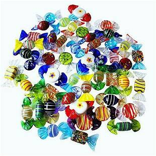 Set of 24 Sujeetec Sweets Glass Candy Murano decoration