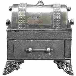 Victorian Webster Jewelry Casket Silverplate 19th C