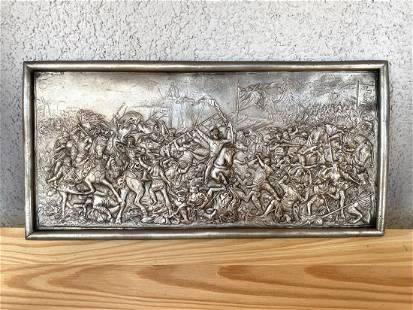Bas Relief White metal - Battle of Grunwald