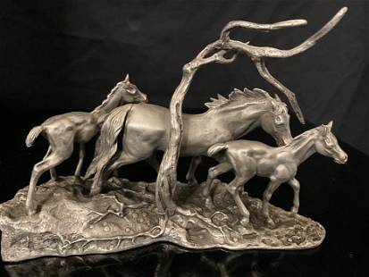 Don Polland , Running Free, Franklin Mint Limed Edition